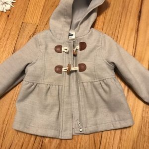 Old navy toggle coat gray 12-18 months